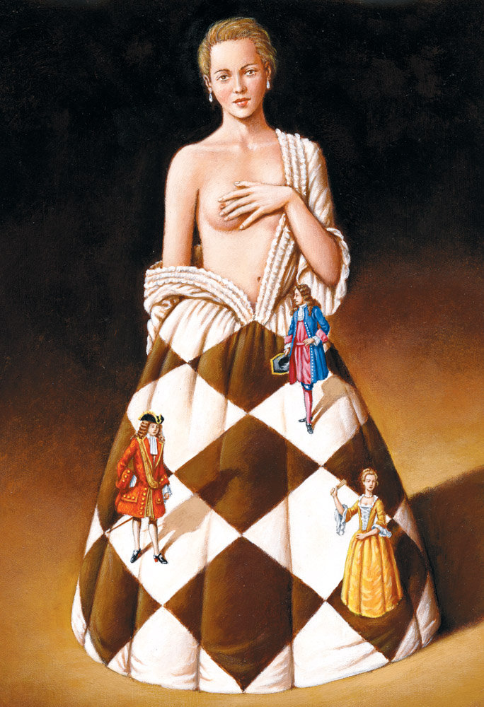Portret damy - Inkografia