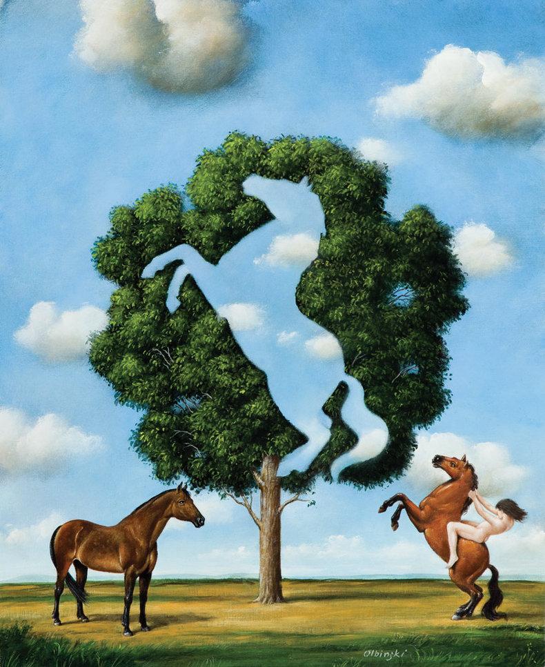 Krajobraz bez koni - Inkografia
