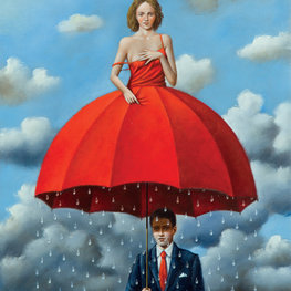 Red umbrella - Inkografia