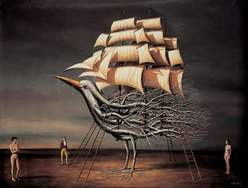 Ptasi żaglowiec - Inkografia