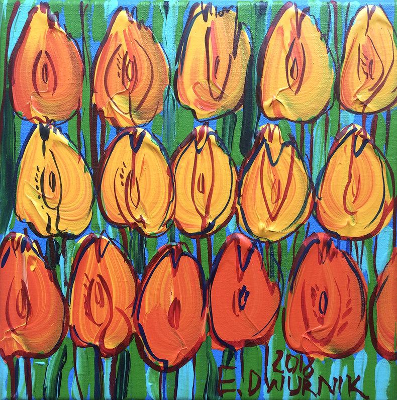 Pomarańczowe tulipany III