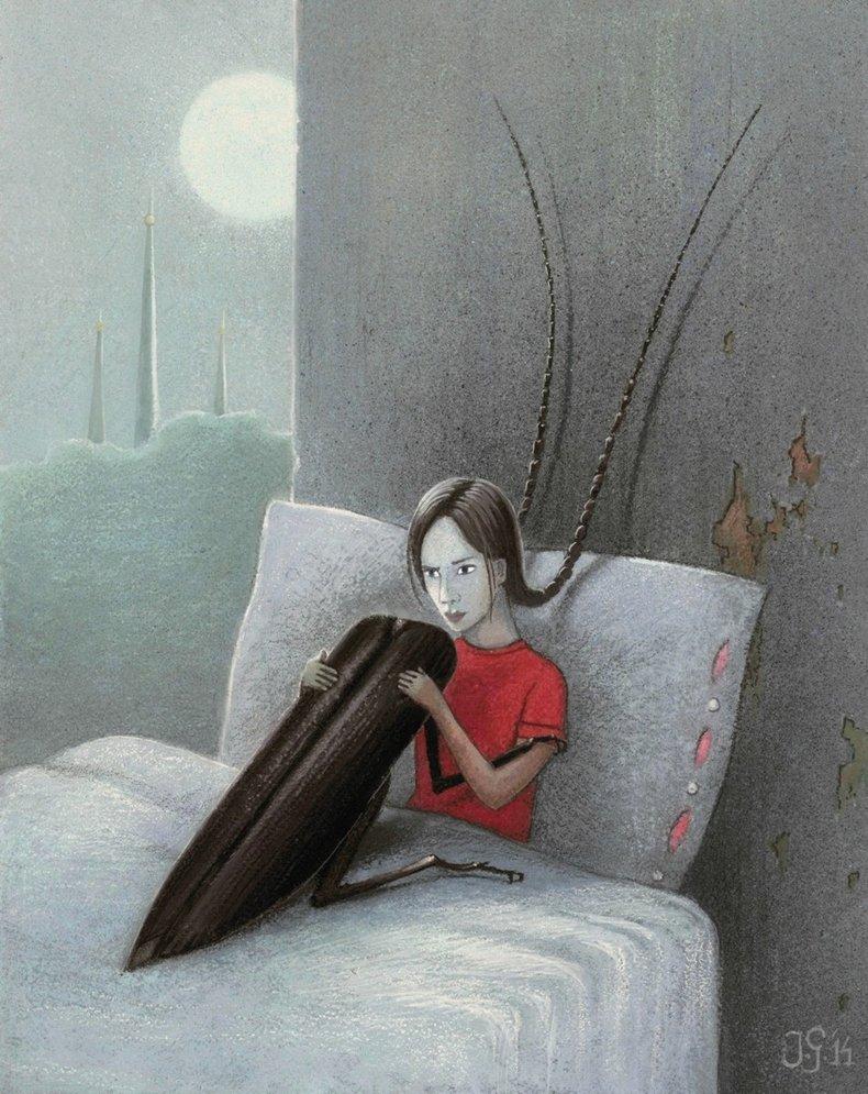 Dziewczynka z chrząszczem