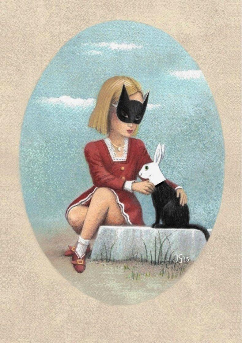 Dziewczynka z maską