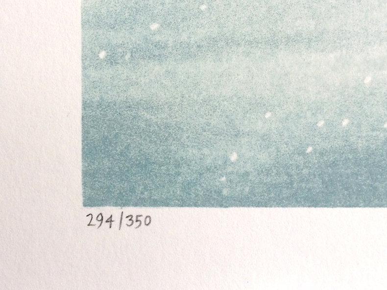 Magiczna przezroczystość czasu - litografia
