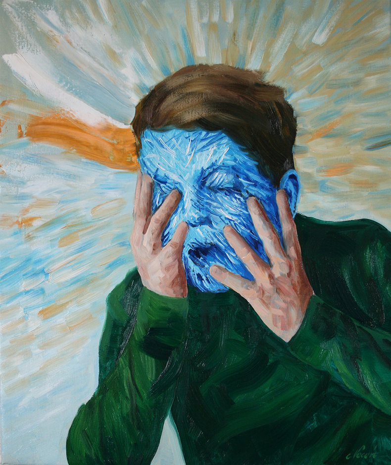 Niebieska maska