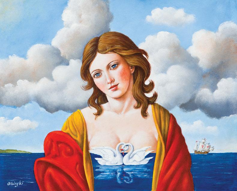 Columbus Bride / olej na płótnie