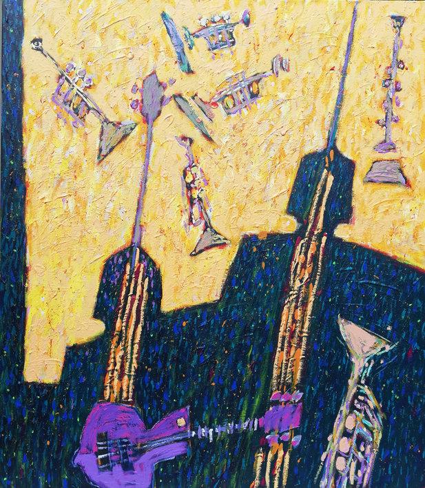 Fioletowa gitara