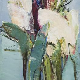 Białe tulipany - Inkografia