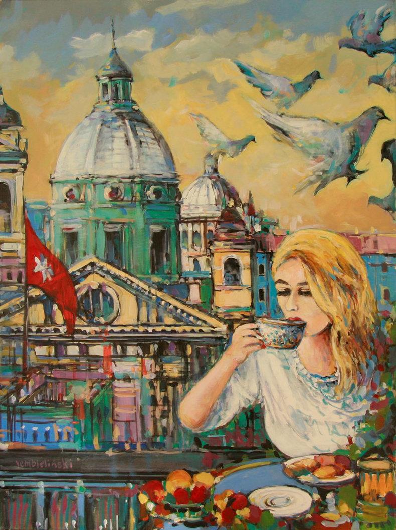 Poranna kawa w Rzymie