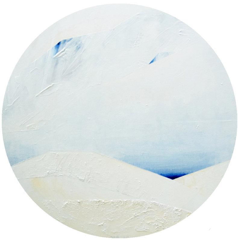 Staw - śnieg
