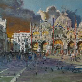 Gołębie na Piazza di San Marco
