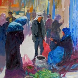 Uliczny handel w Betlejem