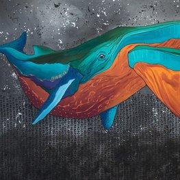 Idealna oceaniczna miłość niebieskich wielorybów