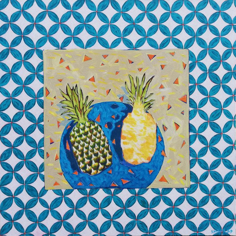 Martwa natura z ananasem