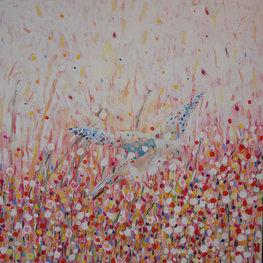 Łąka i ptak