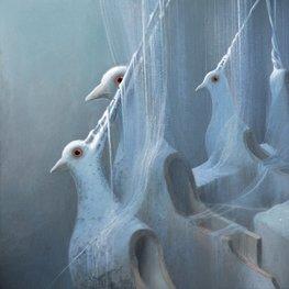 Ptaki - akryl na płótnie