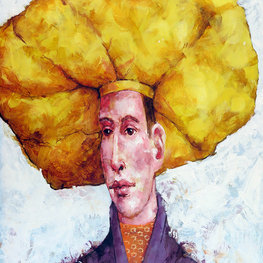 Postać w żółtym berecie