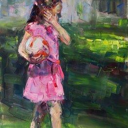 Dziewczynka z piłką V