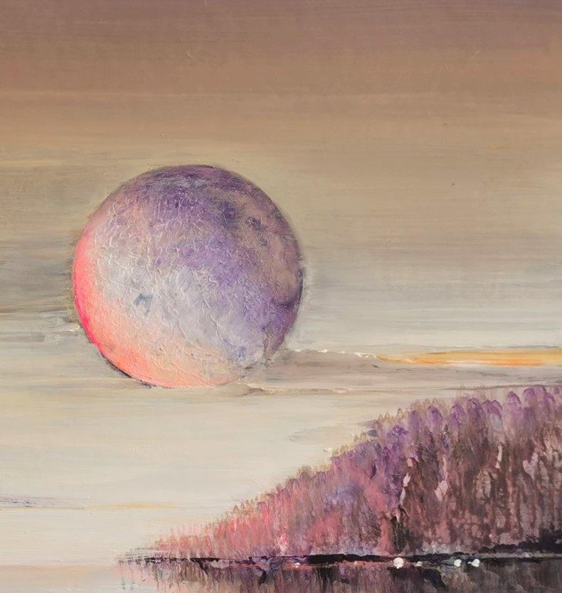 Pejzaż z księżycem