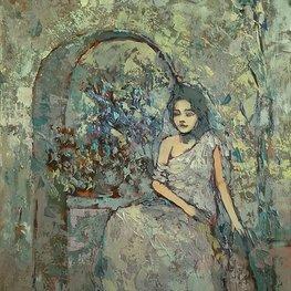 Młoda dziewczyna - impresja w srebrach